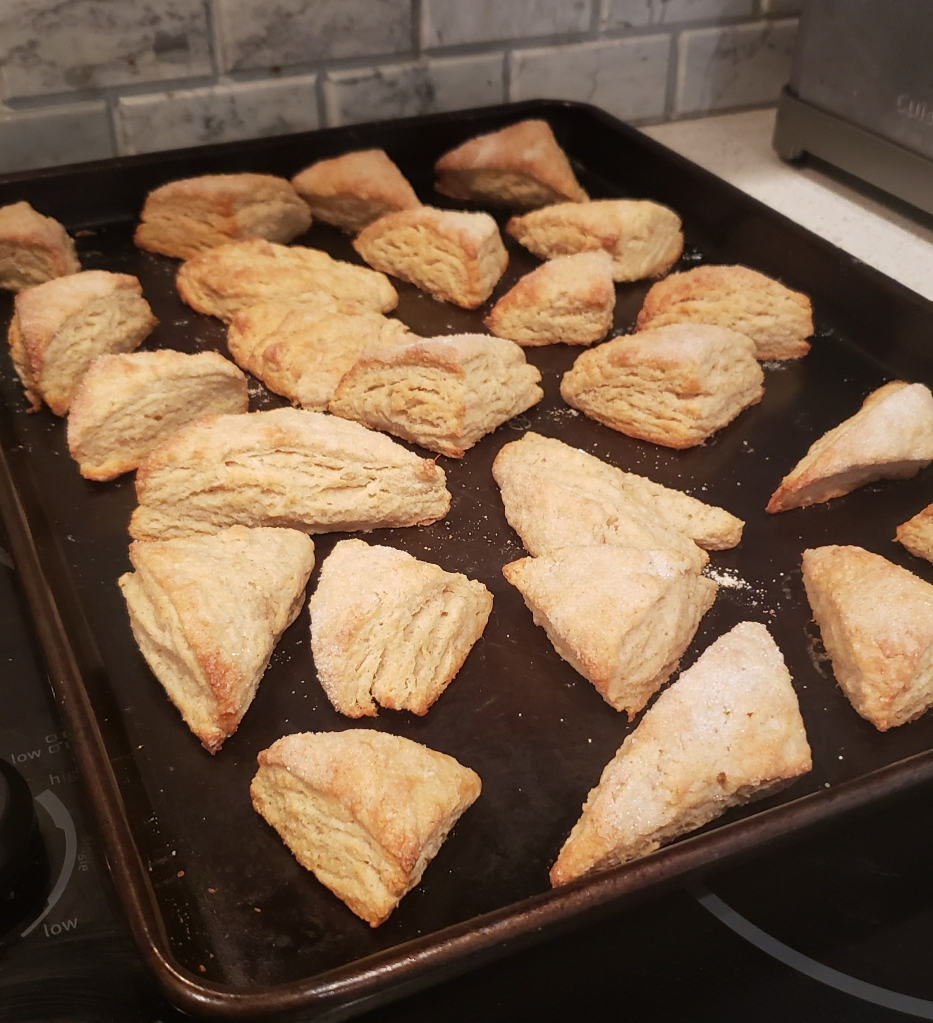 Just baked scones, right out of the oven.