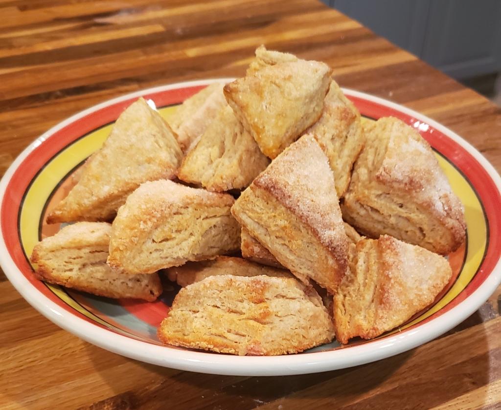 Golden brown scones