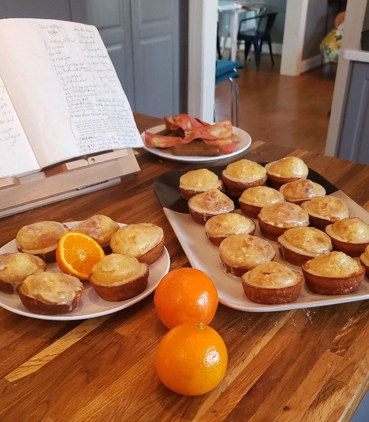 Pancake Muffins with Orange Glaze