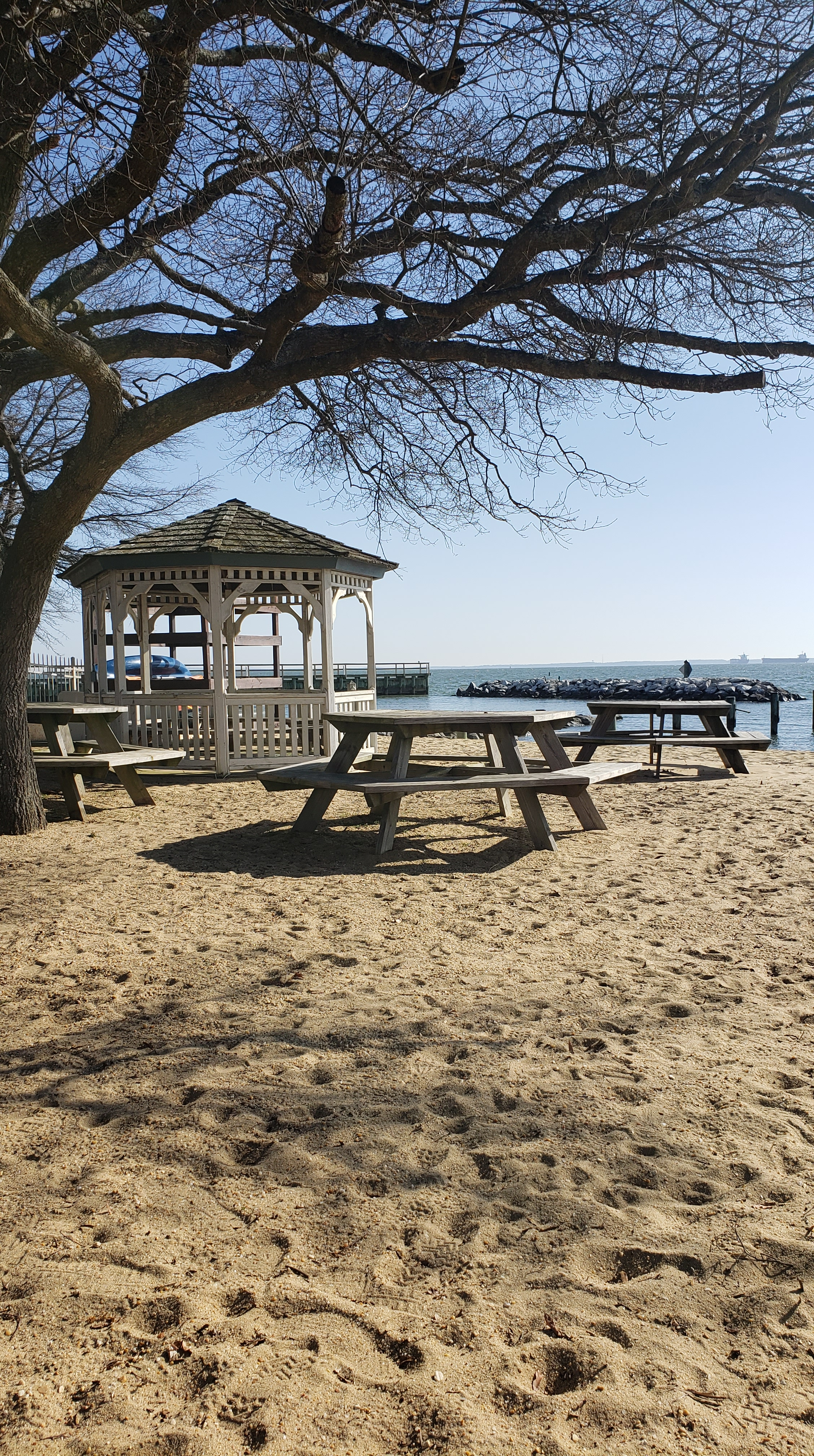 Gazebo at the community's beach. Not pictured: The playground off to the left.