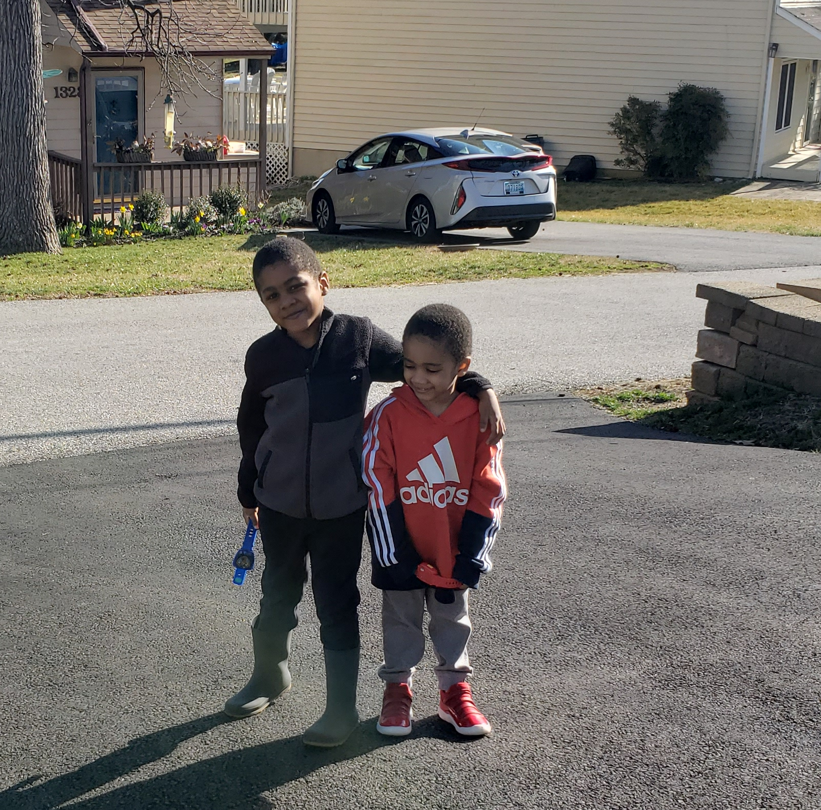 Our boys after our walk.